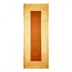 Дверь банная глухая (сорт А)  со стеклом