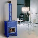 Печь Sissy, blue, с колонной